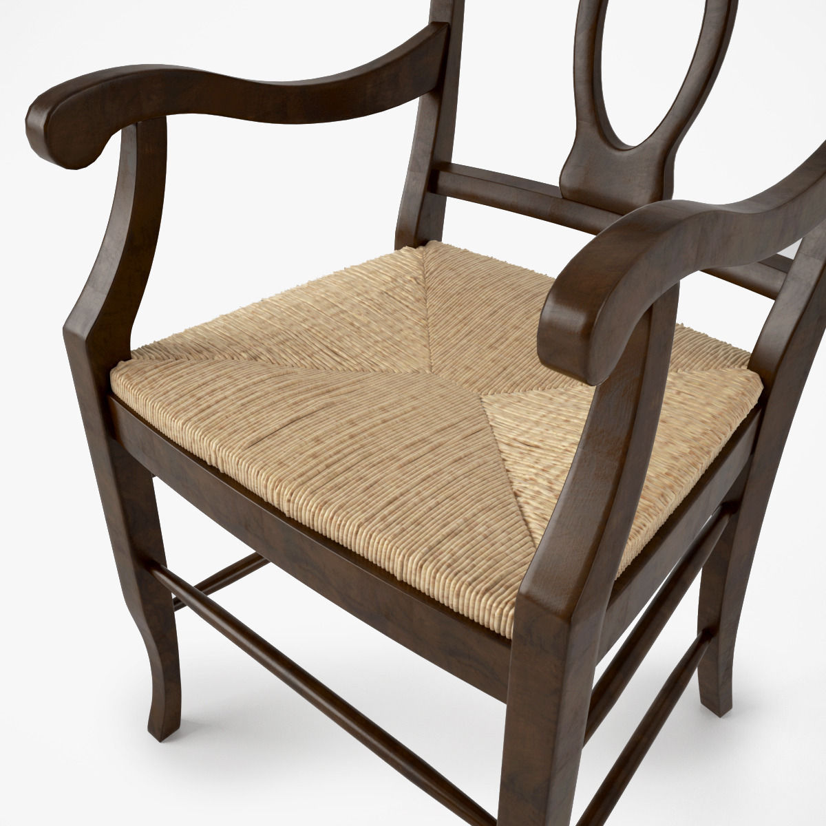 ... pottery barn napoleon rush seat chair 3d model max obj 7 ... & 3D model Pottery Barn Napoleon Rush Seat Chair | CGTrader