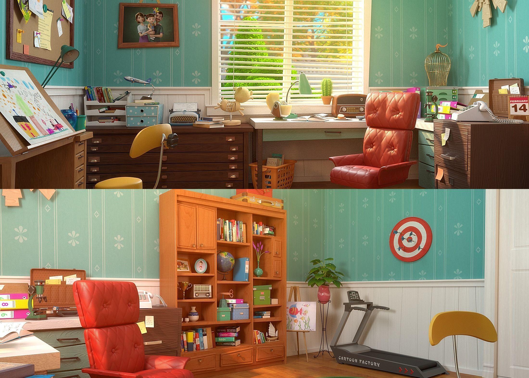 Cartoon Study Room