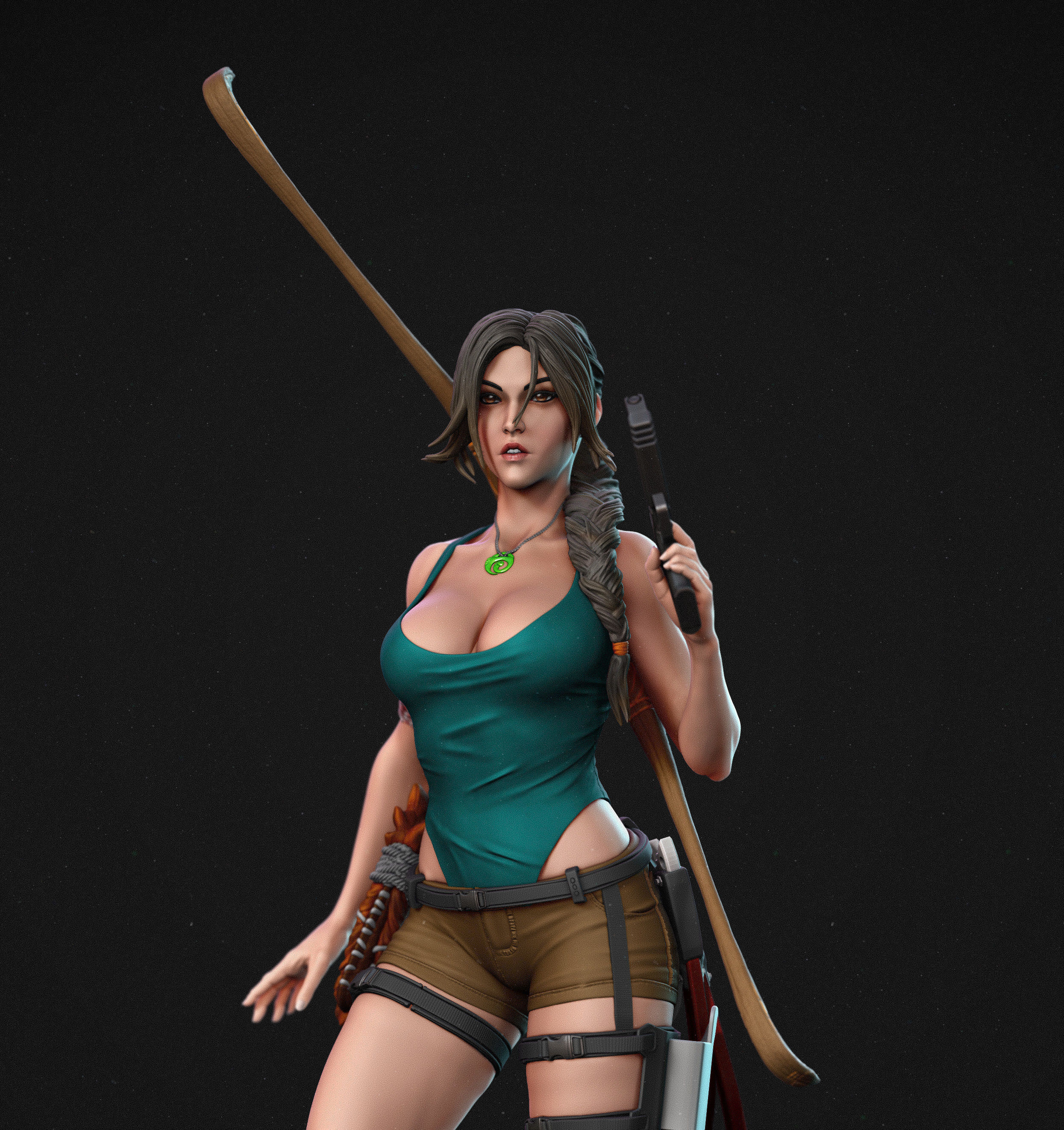 Lara Croft Tomb Raider Fan Art Statue