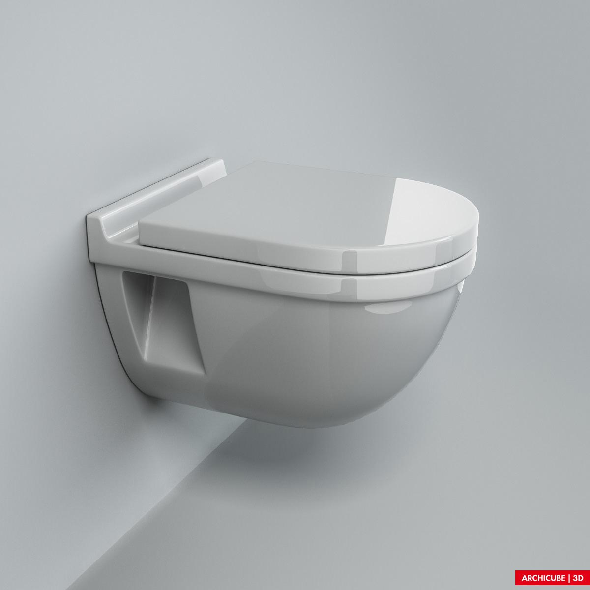 Toilet 06 3d model max obj fbx - Toilet model ...