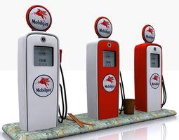 3D asset Gas Pump Mobilgas