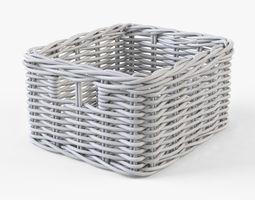 Wicker Basket 06 White 3D