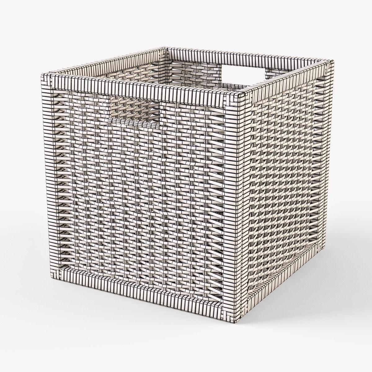 wicker rattan basket 07 black 3d model max obj fbx mtl 6