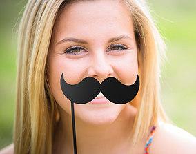 stick Mustache Mustache Stick 3D print model