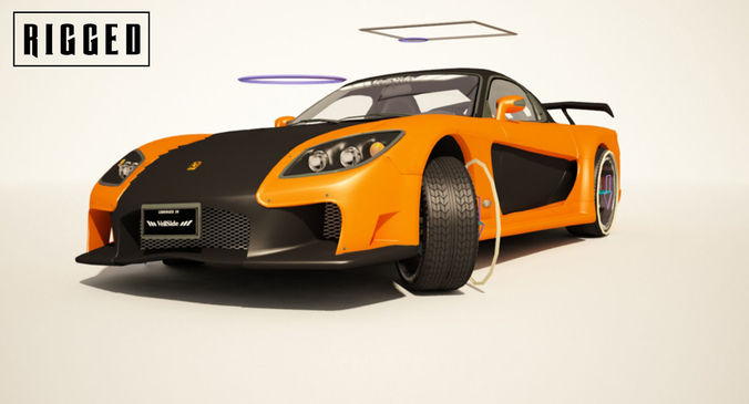 mazda rx-7 veilside edition - rigged 3d model max 3ds 1