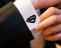 Superman Cufflinks 3D printable model