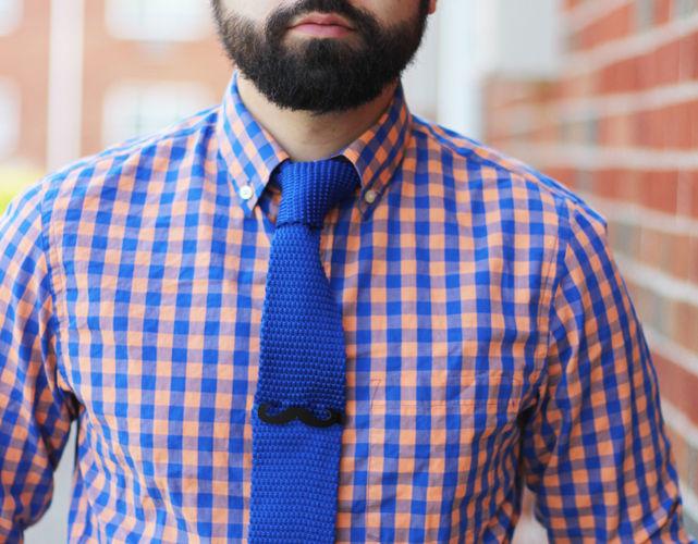 mustache clip 3d model obj mtl 1