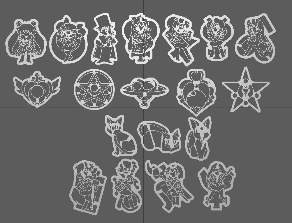 Sailor Moon 3D Printer Cookie Cutters