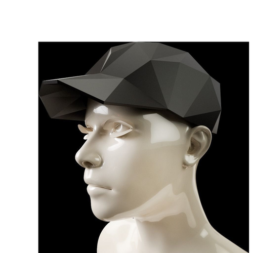 low poly baseball cap 3d model obj mtl 1