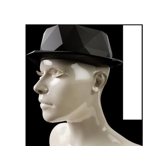 lowpoly fedora hat 3d model obj mtl 1