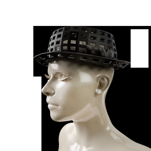 fedora gls hat 3d model obj mtl 1