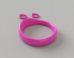 circlet Bangle-Earrings 3D print model