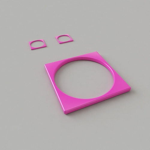 bangle-earrings 3d model obj 1