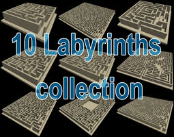 10 labyrinths collection 3d printable model