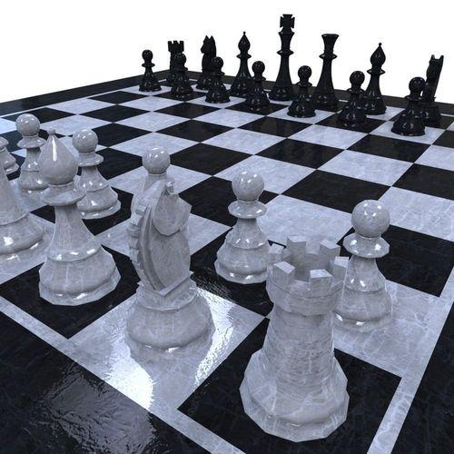 chess set 3d model fbx ma mb 1