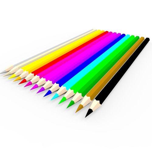 Coloring Pencils 3D model   CGTrader