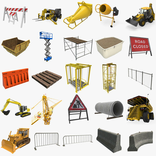 construction collection 3d model ma mb 1