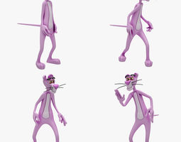 Pink Panther 4 ANIMATION 3D Model