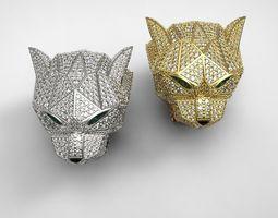 Diamond Panther Ring 3D print model