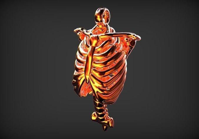 human rib shape pendant 3d model stl 1
