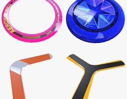 3D asset Frisbee Collection