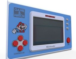 3D asset realtime Mario Game Watch
