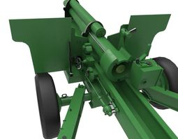 game-ready howitzer 3d asset