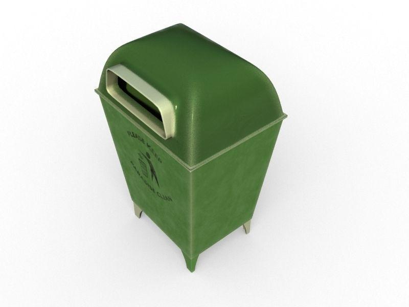 Trash Can 3D model dumpster | CGTrader