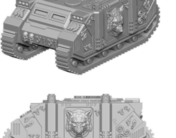 3d printable model spacewerewolves custom tank