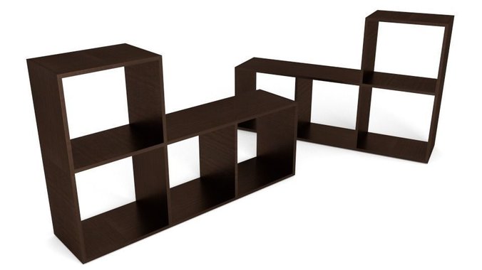 mini book shelf 3d model low-poly obj mtl fbx blend dae 1