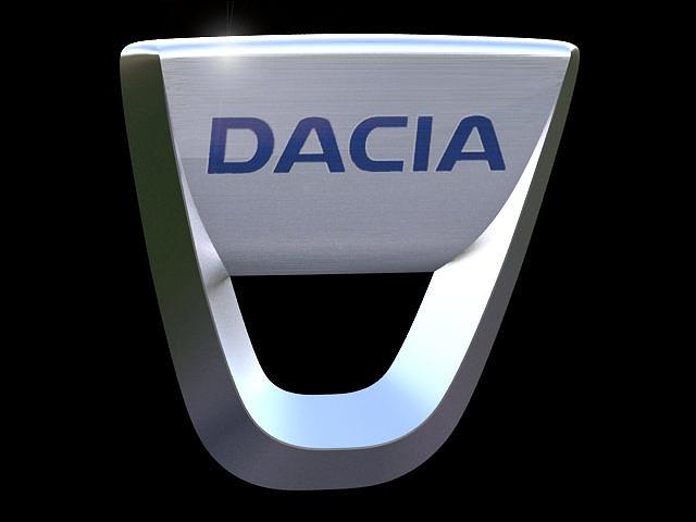 dacia emblem 3d model max obj mtl 3ds c4d 1
