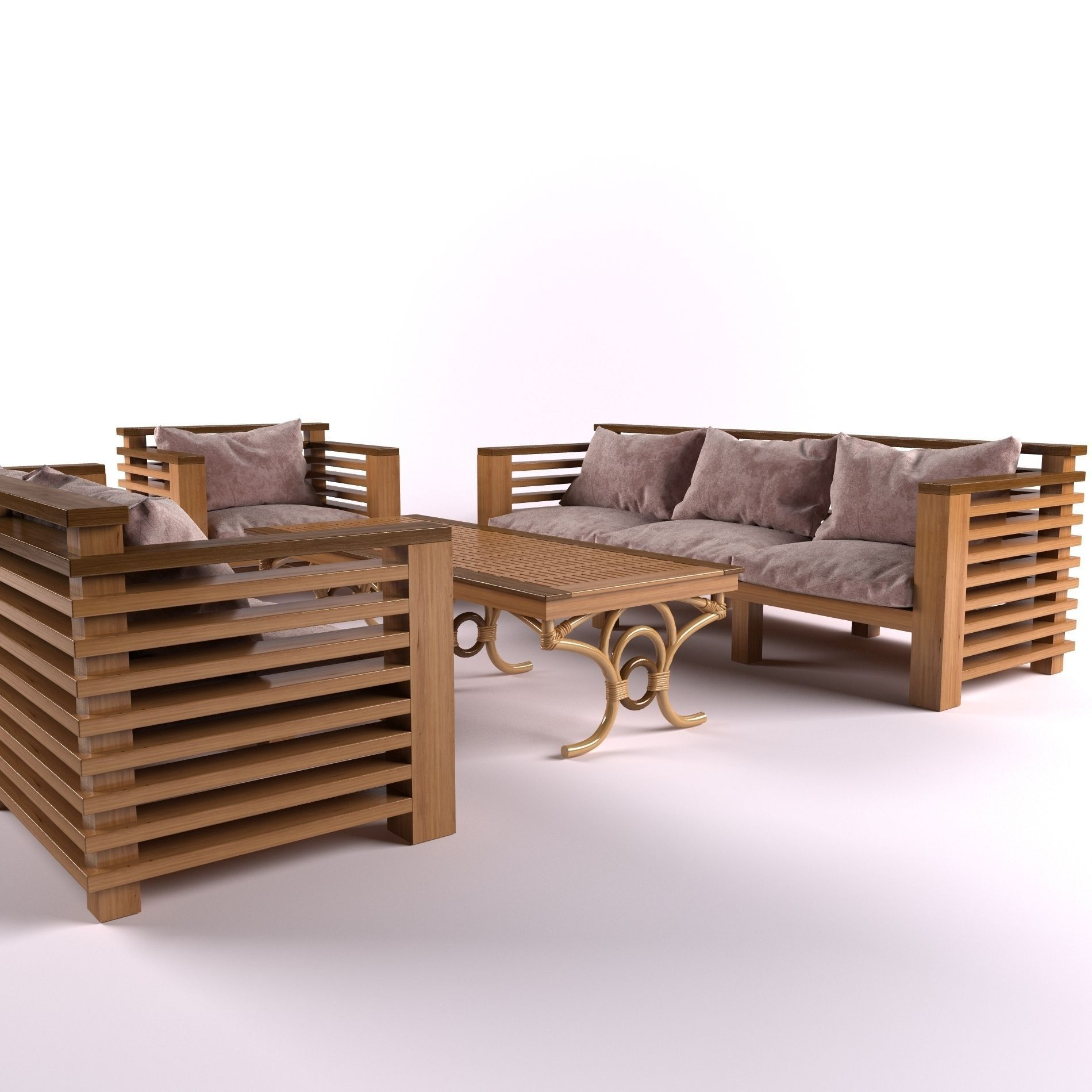 garden furniture 3d model max obj mtl 4 - Garden Furniture 3d Model