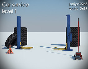 3D asset Car service level