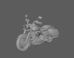 3D model Harley Road King