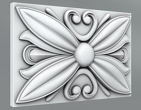 Square decoration 3D architectural