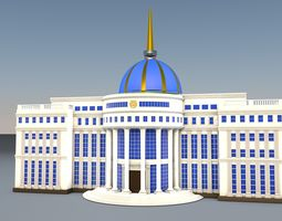 3d model rigged ak orda residence of the president of the republic of kazakhstan