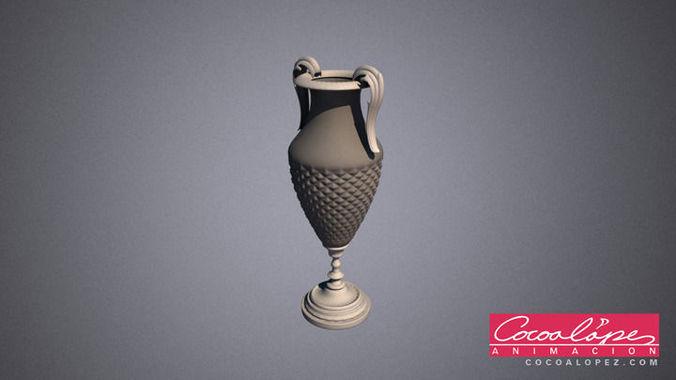 3d Model Decorative Flower Vase Cgtrader
