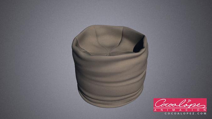 round puff 01 3d model max obj mtl 1