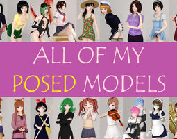 3D All of my posed girls