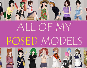 All of my posed girls akari 3D model