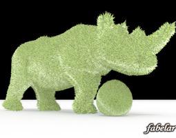 3d model rhinoceros topiary shrub