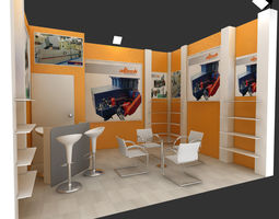 adm exhibition stand design 3d model