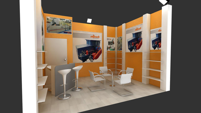 Exhibition Stand Designer Job Description : D model adm exhibition stand design cgtrader