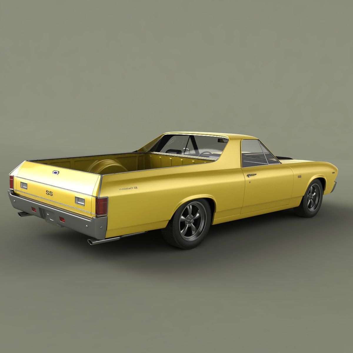 Chevrolet El Camino 1969 3d Model Max Obj 3ds Cgtrader Com