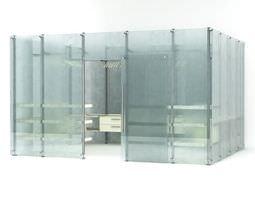3d model modern glass wardrobe 81 am102