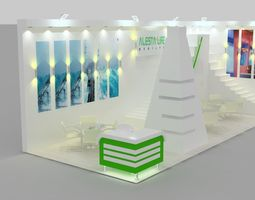 3d model alesta exhibition design rigged