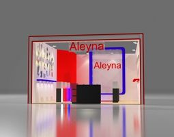 aleyna exhibition design rigged 3d