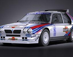 Lancia Delta S4 rally car 3D Model
