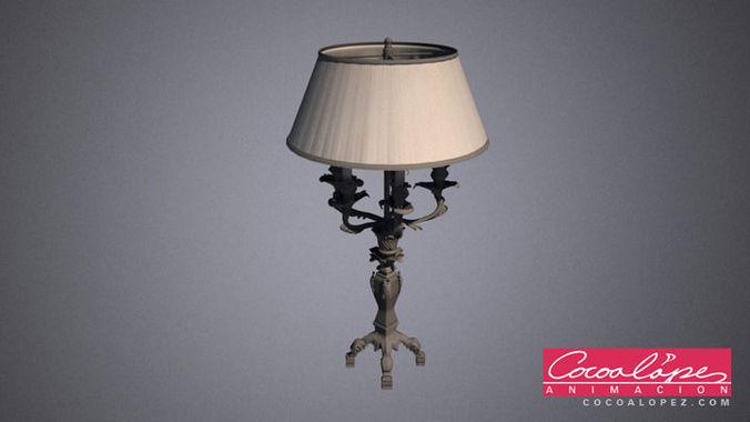 art deco lamp 01 3d model max obj mtl 1