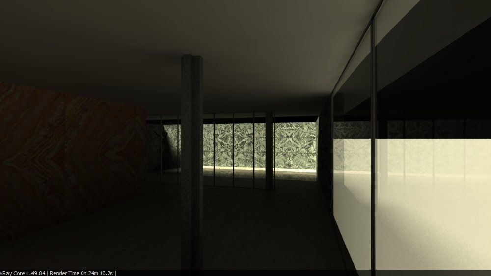 ... Barcelona Pavillion By Mies Van Der Rohe 3d Model 3dm 7 ...